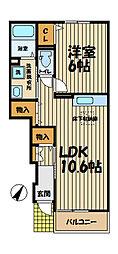 ヴィラージ・K II[1階]の間取り