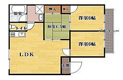 奥井第5アパート[1階]の間取り