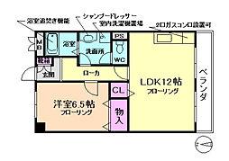メゾントキワ[3階]の間取り