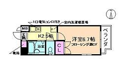 ハイツJUN3号館[5階]の間取り
