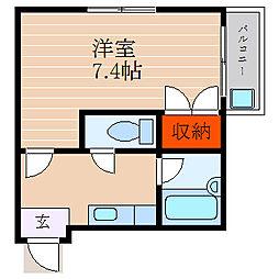 滋賀県彦根市栄町2丁目の賃貸アパートの間取り