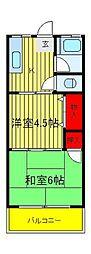 関東富士マンション[4階]の間取り