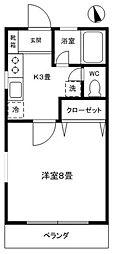 ニュー田原ハイツ[2階]の間取り