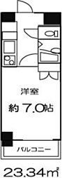 ドミール東日本橋[1304号室]の間取り