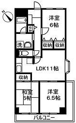 プラザ志村[4階]の間取り
