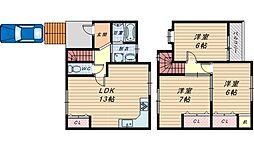 [一戸建] 大阪府和泉市室堂町 の賃貸【大阪府 / 和泉市】の間取り