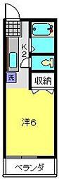 神奈川県横浜市磯子区岡村5丁目の賃貸アパートの間取り