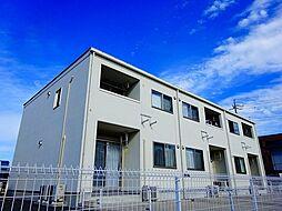 茨城県筑西市中舘の賃貸アパートの外観