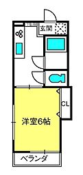 エスポワ−ル岩崎[207号室]の間取り