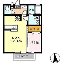 エマーブルIII[1階]の間取り