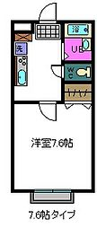 シャレー富塚町A棟[207号室]の間取り