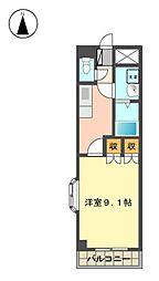 愛知県長久手市片平1丁目の賃貸アパートの間取り