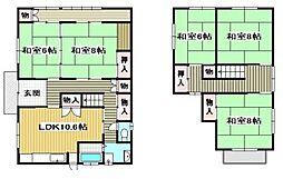 [一戸建] 岡山県倉敷市中庄 の賃貸【/】の間取り