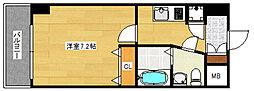 ピュアドームエクサイト博多アネックス[14階]の間取り