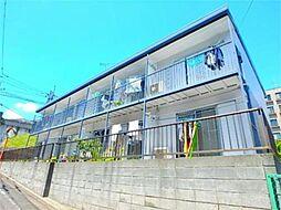 東京都多摩市中沢2の賃貸アパートの外観