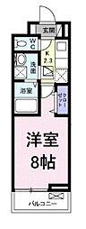 JR京浜東北・根岸線 浦和駅 徒歩24分の賃貸アパート 1階1Kの間取り