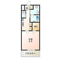 Osaka Metro谷町線 平野駅 徒歩2分の賃貸マンション 13階1Kの間取り