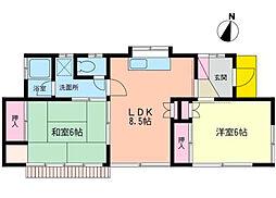 [一戸建] 神奈川県茅ヶ崎市松林1丁目 の賃貸【/】の間取り
