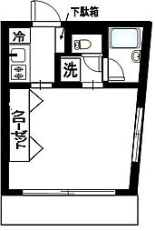 ワンズ マンション[6階]の間取り