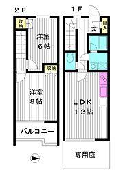 東京都練馬区高松4丁目の賃貸マンションの間取り