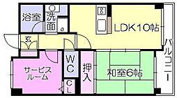ライオンズマンション久留米中央[803号室]の間取り