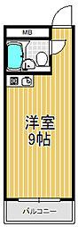 小若江ハイツ[4階]の間取り