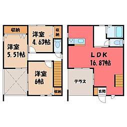 [一戸建] 栃木県小山市西城南2丁目 の賃貸【/】の間取り