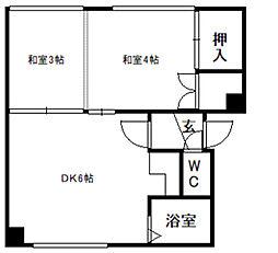 第3マンション幸梅[6号室]の間取り