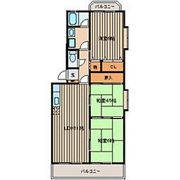 メゾン鹿島Ⅱ[4階]の間取り
