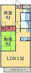 千葉県千葉市中央区蘇我2丁目の賃貸マンションの間取り