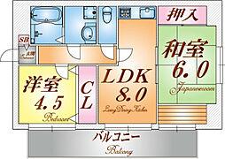 兵庫県神戸市垂水区王居殿3丁目の賃貸マンションの間取り