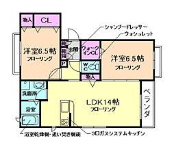 仮称)池田市シャーメゾン井口堂[3階]の間取り