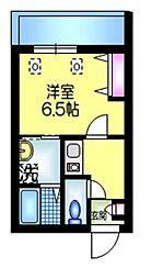 東武伊勢崎線 草加駅 徒歩7分の賃貸マンション 3階1Kの間取り