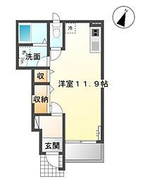 ラ・ルーチェ B[1階]の間取り