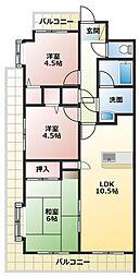 セザール加古川[2階]の間取り