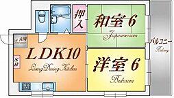 ハイツ須磨[3階]の間取り