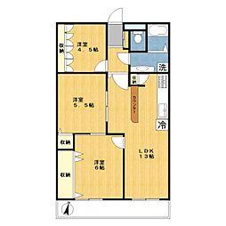 菱興マンション[2階]の間取り