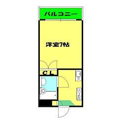プロムナード三ッ沢[202号室]の間取り