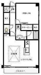 ビューコートQM[1階]の間取り