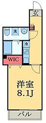 東葉高速鉄道 北習志野駅 徒歩10分の賃貸アパート 2階1Kの間取り