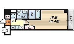 大阪府堺市堺区北花田口町2丁の賃貸マンションの間取り
