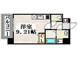 JR鹿児島本線 吉塚駅 徒歩6分の賃貸マンション 2階ワンルームの間取り