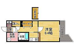 ルネス六本松[6階]の間取り