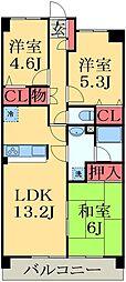 千葉県千葉市緑区椎名崎町の賃貸マンションの間取り