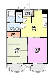 新潟県新潟市西区上新栄町3丁目の賃貸マンションの間取り