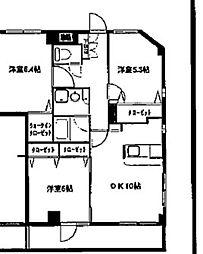 プルメリアガーデン[6階]の間取り
