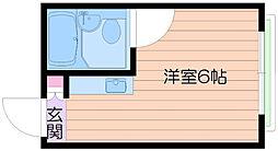 大阪府大阪市阿倍野区昭和町5丁目の賃貸マンションの間取り