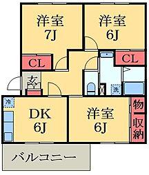 千葉県市原市ちはら台南5丁目の賃貸マンションの間取り
