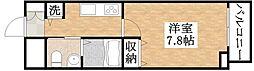 近鉄南大阪線 矢田駅 徒歩10分の賃貸マンション 6階1Kの間取り
