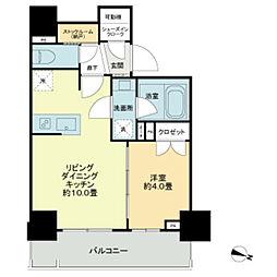 東京メトロ日比谷線 秋葉原駅 徒歩6分の賃貸マンション 9階1LDKの間取り